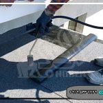 عایق کاری با ایزوگام روی سقف شیروانی